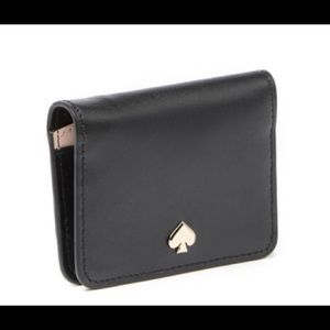 NWT Kate Spade NY Black leather mini wallet